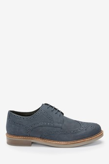 Waxy Finish Leather Brogue Shoes