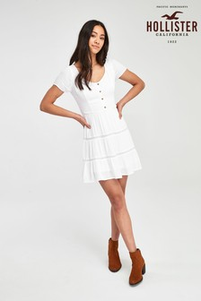 Hollister White Short Dress