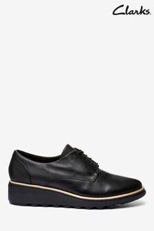 Clarks Black Leather Sharon Noel Shoes