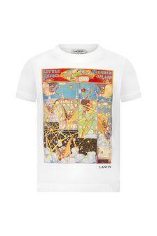 Lanvin Boys Ivory Cotton T-Shirt