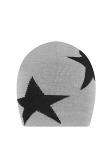 Kids Grey Wool Star Hat
