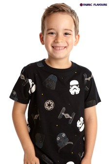 Fabric Flavours Black Star Wars™ Empire T-Shirt