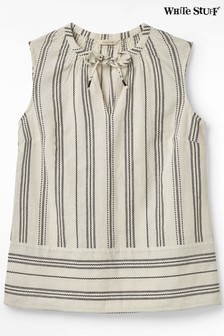 White Stuff Grey Cornelia Stripe Top