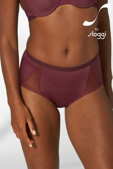 S By Sloggi Brown Symmetry High Waist Panty Briefs