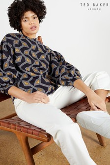 Ted Baker Blue Lipsah Modernity Printed Sweatshirt