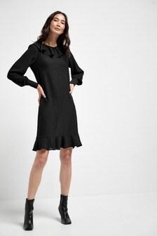 Frill Neck Mini Dress