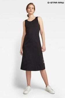 G-Star Black A-Line Dungaree Dress