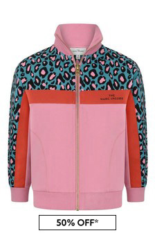 Girls Pink/Green Milano Zip Up Top