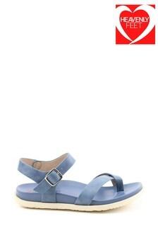 Heavenly Feet River Ladies Blue Toe Loop Sandals