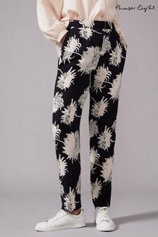 Phase Eight Black Keiki Print Trousers