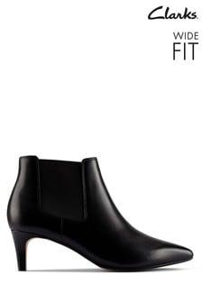 Clarks Black Leather Laina Boots