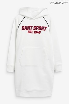 GANT White Sport Hoody Dress