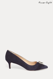 Phase Eight Blue Joelle Sparkle Court Shoes