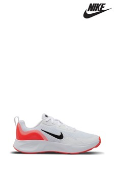 Nike White/Orange WearAllDay Youth Trainers