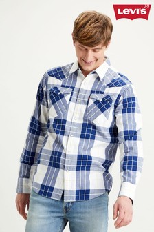 Levi's® Blue Barstow Western Standard Checked Shirt