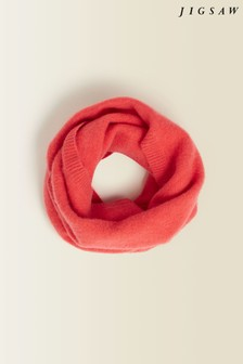 Jigsaw Orange Velvet Cashmere Snood