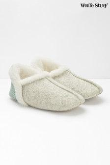 White Stuff Grey Reya Navejo Slippers