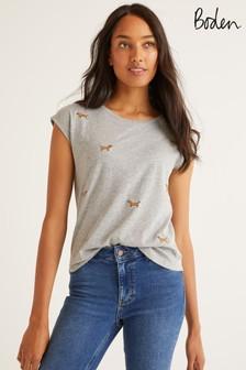 Boden Grey Robyn Jersey T-Shirt