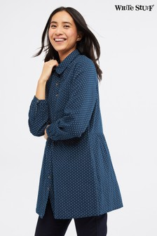 White Stuff Blue Arlana Spot Shirt Tunic