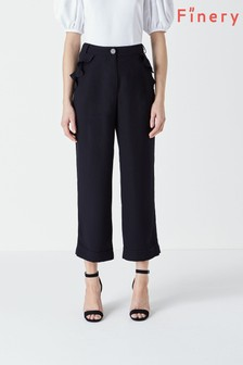 Finery Kellen Navy Frill Pocket Trousers