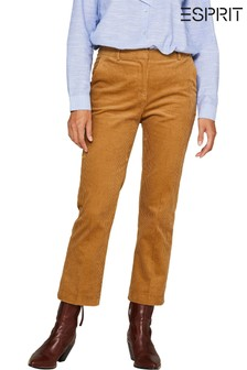 Esprit Brown Kick Flare Corduroy Trousers