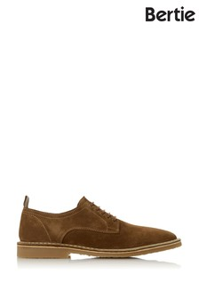Bertie Brimstown Tan Suede 3 Eye Desert Shoes
