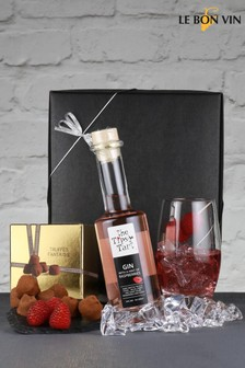 Tipsy Raspberry Gin And Champagne Truffles Gift Set by Le Bon Vin
