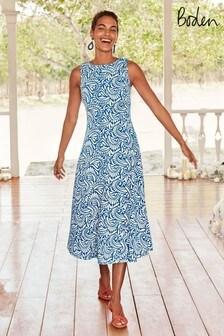 Boden Blue Clarissa Midi Dress
