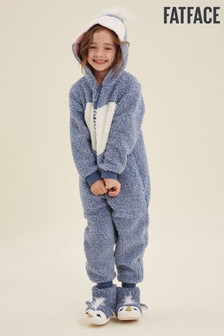 FatFace Blue Penguin Fleece All-In-One