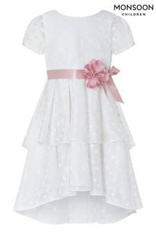 Monsoon White Ingrid Dress