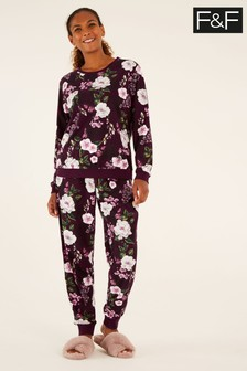 F&F Floral Fleece Pack Pyjamas