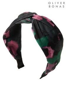 Oliver Bonas Elvy Smudge Print Twist Headband