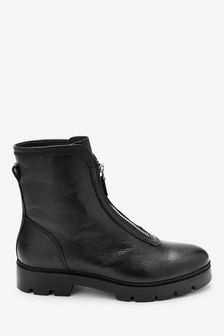 Forever Comfort® Front Zip Chunky Boots