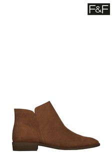 F&F Tan Ankle Pixie Boots