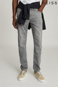 Reiss Grey Adana Slim Fit Jersey Stretch Jeans