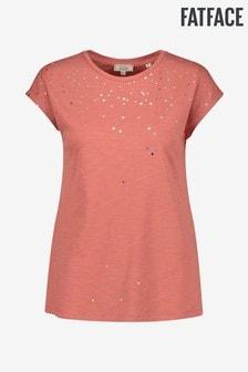 FatFace Pink Spot Foil T-Shirt