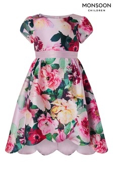 Monsoon Pink Belle Floral Dress