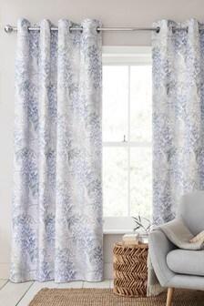 TENCEL™ Japandi Floral Eyelet Curtains