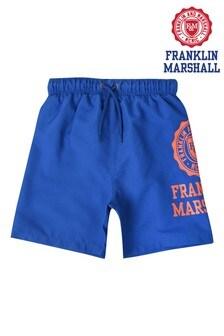 Franklin & Marshall Blue Core Logo Swim Shorts