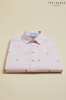 Ted Baker Vegty Stripe & Palm Printed Shirt
