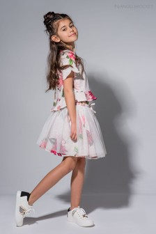 Angel & Rocket Pink Floral Tutu