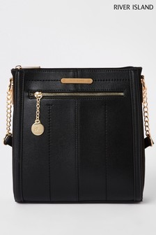 River Island Black Messenger Bag