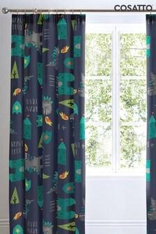 Cosatto Dragon Kingdom Pencil Pleat Curtains