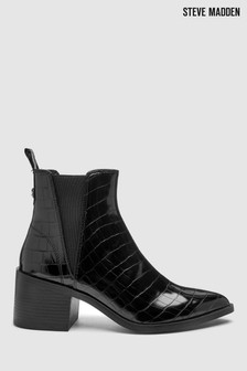 Steve Madden Black Croc Audi Boots