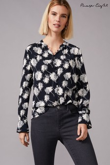 Phase Eight Black Keiki Print Blouse