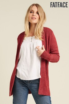 FatFace Red Haywood Cardigan