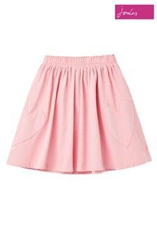 Joules Pink Adler Cord Skirt