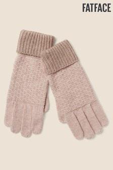 FatFace Pink Cashmere Blend Gloves