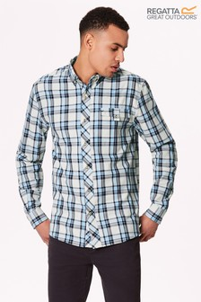 Regatta White Lothar Long Sleeve Shirt