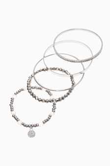 Sparkle Bead & Bangle Bracelet Pack